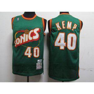 Seattle Sonics Shawn Kemp Green Jersey
